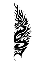 Tatuaggio Tribale di Drago Leggendario