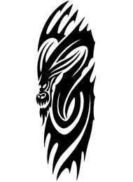 Tatuaggio Tribale di un Drago Maori