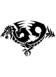 Tatuaggio Tribale di Draghi Maori