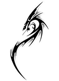 Tatuaggio Tribale con Dragone Alato