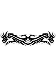 Tatuaggio Tribale con Dragoni Alati