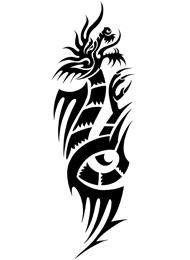 Tatuaggio Tribale con Dragone Cinese