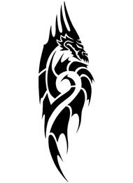 Tatuaggio Tribale con coda di Drago