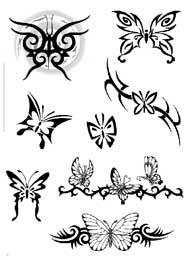 Tatuaggi di Farfalle Maori