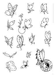 Tatuaggi con Farfalle e Simbolo di Pace