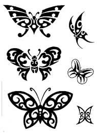 Tatuaggi con simboli di Farfalla