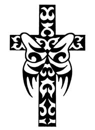 Tatuaggio di Farfalla con una Croce