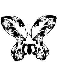 Tatuaggi di Farfalle con Fiori