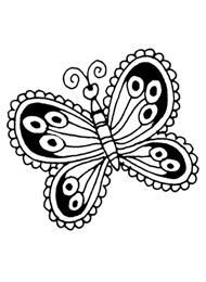 Tatuaggio con Farfalla Mehndi