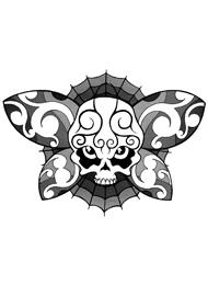 Tatuaggio di una Farfalla a Forma di Teschio