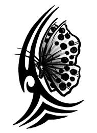 Tatuaggio di una Farfalla Tribale