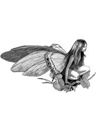 Disegno di un Tatuaggio di una Fata Elfo