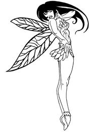 Disegno di un Tatuaggio di una Fata