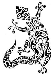 Tatuaggio di un Geco con una Maschera