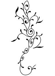 Tatuaggio di un Geco Floreale