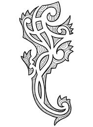 Tatuaggio di un Geco Maori
