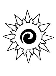 Tatuaggio di una Stella e Sole