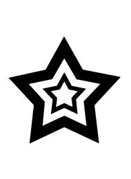 Tatuaggio di una Stella Concentrica