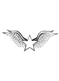 Tatuaggio di una Stella con le Ali