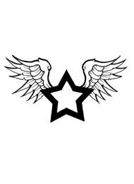 Tatuaggio di una Stella Alata