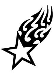 Tatuaggio di una Stella Cometa