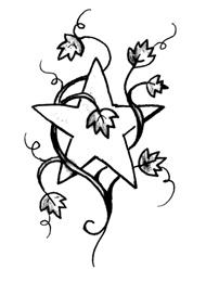 Tatuaggio di una Stella con Foglie