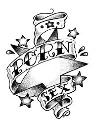 Tatuaggio di una Stelle con Lettere