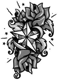 Tatuaggio di una Stella con Rose