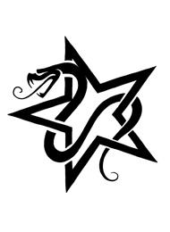 Tatuaggio di una Stella con un Serpente