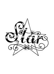 Tatuaggio di Stella con Scritta Star