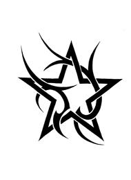 Tatuaggio di una Stella Tribale