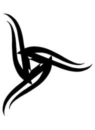 Disegno di un Tatuaggio Triskell Cultura Celtica