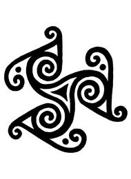 Disegno di un Tatuaggio Triskell a Spirali