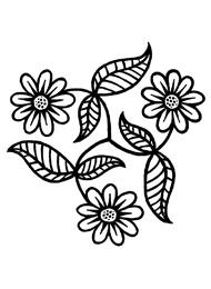 Disegno di un Tatuaggio Triskell con Fiori e Foglie