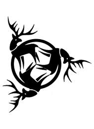 Disegno di un Tatuaggio Triskell con le Renne