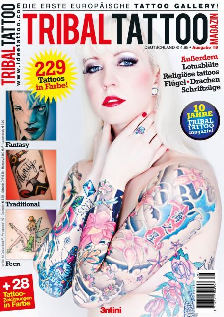 Tribal Tattoo Magazin 19 DE cover c 452x640 Tattoo Cover Model: Miss IVI