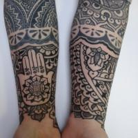 Calypso dotwork arm 02 200x200 Tattoo Artist gallery: Calypso