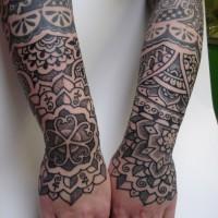 Calypso dotwork arm 04 200x200 Tattoo Artist gallery: Calypso