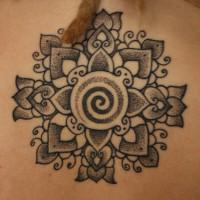 Calypso dotwork back neck tattoo 01 200x200 Tattoo Artist gallery: Calypso