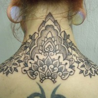 Calypso dotwork back neck tattoo 02 200x200 Tattoo Artist gallery: Calypso