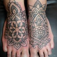 Dotwork feet