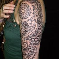 Calypso dotwork shoulder 03 200x200 Tattoo Artist gallery: Calypso