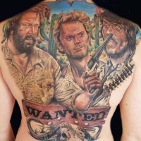western back tattoo