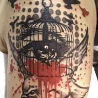 blody bird cage 200x200 Tattoo Artist gallery: Jean François Palumbo