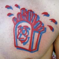 fries 3D 200x200 Tattoo Artist gallery: Jean François Palumbo