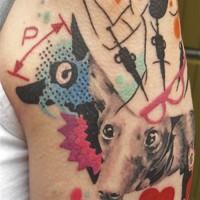 modern dog 200x200 Tattoo Artist gallery: Jean François Palumbo
