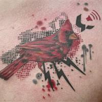 red bird 200x200 Tattoo Artist gallery: Jean François Palumbo