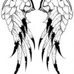 Angel wings tattoo by Stex