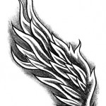 Phoenix wings tattoo by Luca Tarlazzi