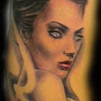 white woman tattoo